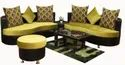 Wooden Virgo Cushioned Sofa Set
