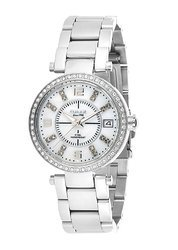 OMAX Analogue Mother of Pearl White Dial Women''s Watch -LS1