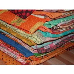 Vintage Bengali Kantha Quilt