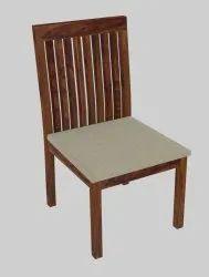 Modern Brown Sheesham Wood Upholstered Top Hotel Room Chair, Set Size: Single