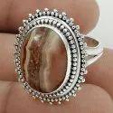 925 Sterling Silver Garnet Gemstone Ring