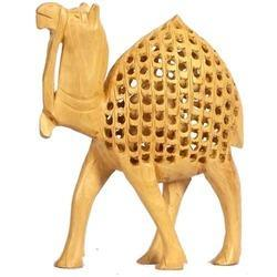 Brown Wooden Camel