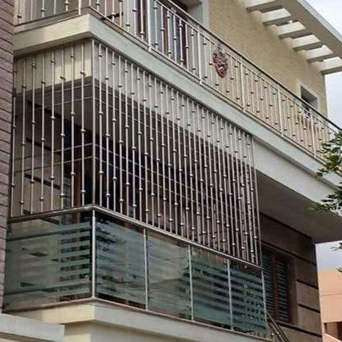 stainless steel balcony grill at rs 600 square feet ss balcony