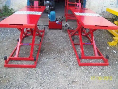 Two Wheeler Hydraulic Ramp MS Top