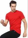 Red Regular Fit Round Neck T-Shirt