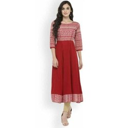 Crepe Churidar Ladies Designer Anarkali Suit, Handwash