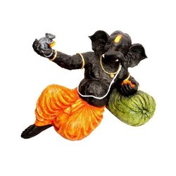 GUNATIT Fiber Resin Ganesh Ji Statue, Size: 55 X 45 X 32 Cm
