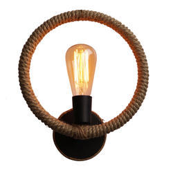 cheaper 5ba69 6f4d1 Twisted Rope Wall Lamp