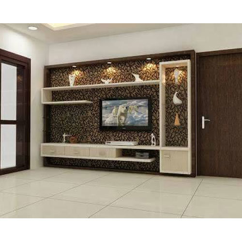 Living Room Cabinet Design In India: Wooden TV Cabinet At Rs 35000 /unit