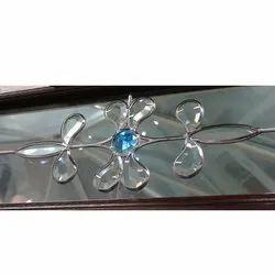 Transparent Floral Decorative Glass, for Decoration