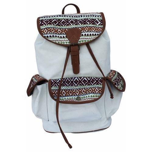 Moac White Backpack