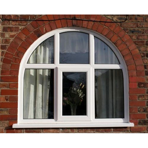 White Upvc Arched Window Rs 450