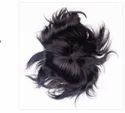 10x7 Inch Natural Human Hair Black