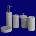High Quality White Marble Bathroom Set