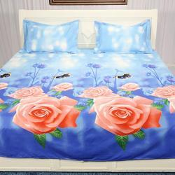 Flower Printed Bedsheet
