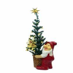 Santa Holding Bucket
