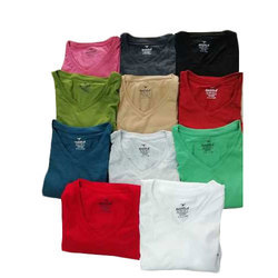 Plain Cotton Mens V Neck T Shirt