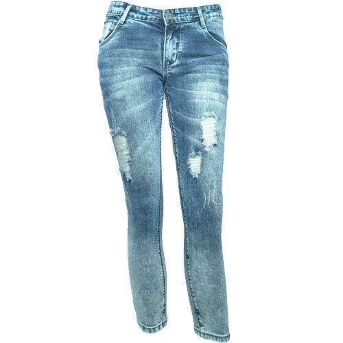 cf5f45be2000d 30   36 Blue Ladies Designer Denim Rugged Jeans