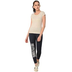 Ladies Navy Free Style Running Track Pant