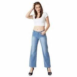Ladies Regular Denim Blue Jeans