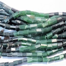 Serpentine Faceted Tube Gemstone Bead Strands