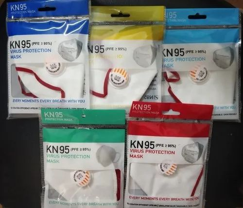 KN95 Reusable Face Mask Respirators, Number of Layers: 5
