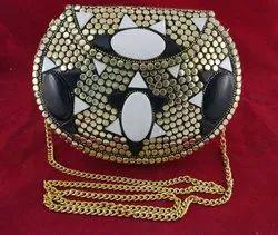NK Enterprises Female Metal Clutch Handmade Fashion Trendy Purse Sling Bag