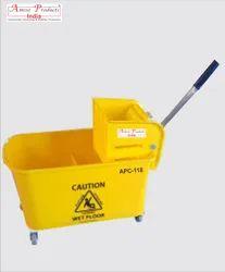 Single Bucket Mop Wringer Trolley APC-118