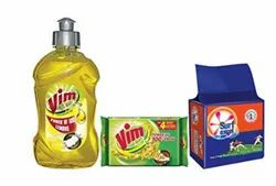 Vim Dish Wash Lemon Gel - 500 Ml With Bar - 200 G