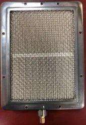 Silver Mild Steel Shawarma Machine Burner, Packaging Type: Box