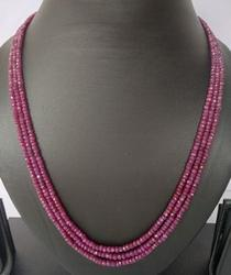Ruby Necklace-3 Lines 165.65 CT
