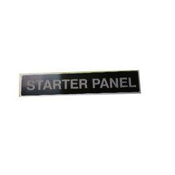 Starter Panel Name Plate