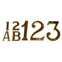 3D Alphanumeric Brass Letter
