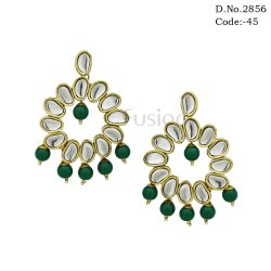 Kundan Chandbali Earrings