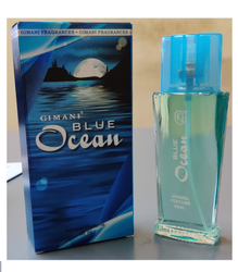 Box Long Lasting Gimani Blue Ocean Scent, For Apparel, Packaging Type: Glass Bottle