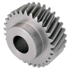 Metallic Silver Spur Type Gear