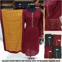 Khwaish Fancy Designer  Muslin Salwar Suit