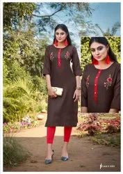 Casual Wear Embroidered Kurti