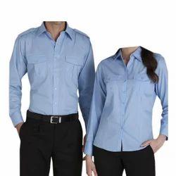 Cotton Blue,Black Corporate Formal Uniform