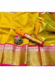 Kota Doria Saree with Jari Patta