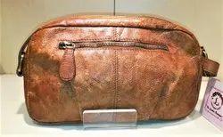 Tan Color Leather Shoulder Cum Hand Bag For Women