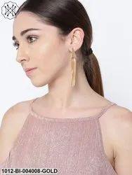 Gold Plated Tassel Earrings Earrings