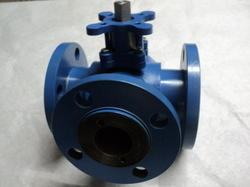 3 Way Flange End Ball Valve