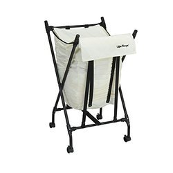 Laundry Cart Steel Frame Square Tall