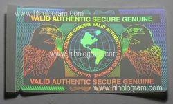 Transparent Hologram Overlay Labels For I.D. Cards