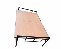 Metal Plywood Folding Bed, Size: 6.5*3 Feet