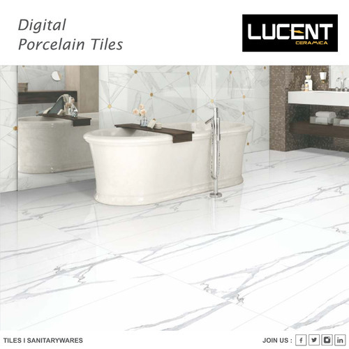 Hindware Nitco White Grey Porcelain Floor Tiles 5 10 Mm