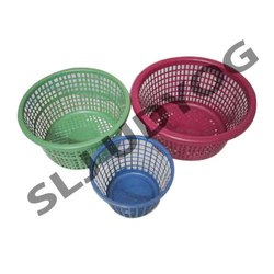 Perforated Plastic Round Basket
