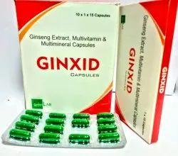 Ginxid Ginseng Extract Multivitamin & Multimineral Capsules, Grade Standard: Medicine Grade, Packaging Type: Box