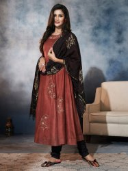 Pr Fashion Launched Designer Readymade A-Line Patterned Suit